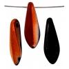 Glass 5X16mm Dagger Copper/Jet - Strung